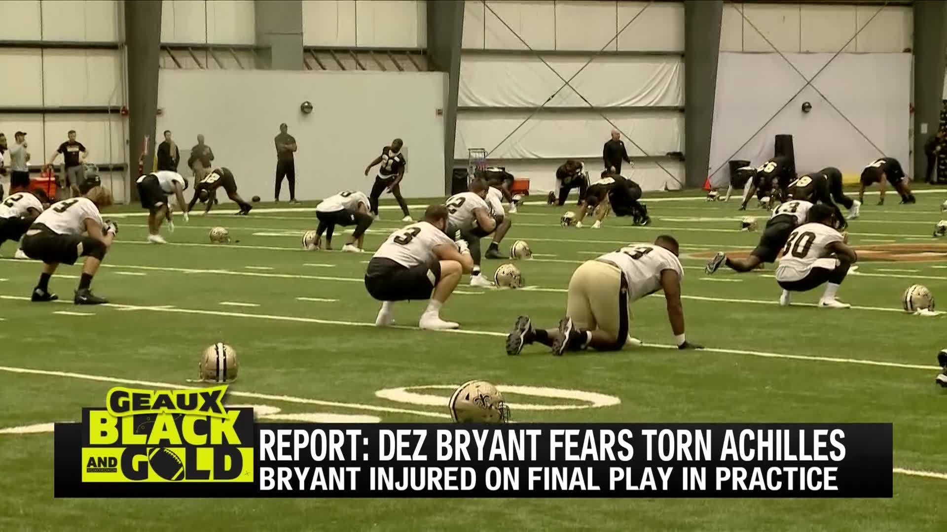 Geaux Black And Gold Saints Lose Dez Bryant To Injury