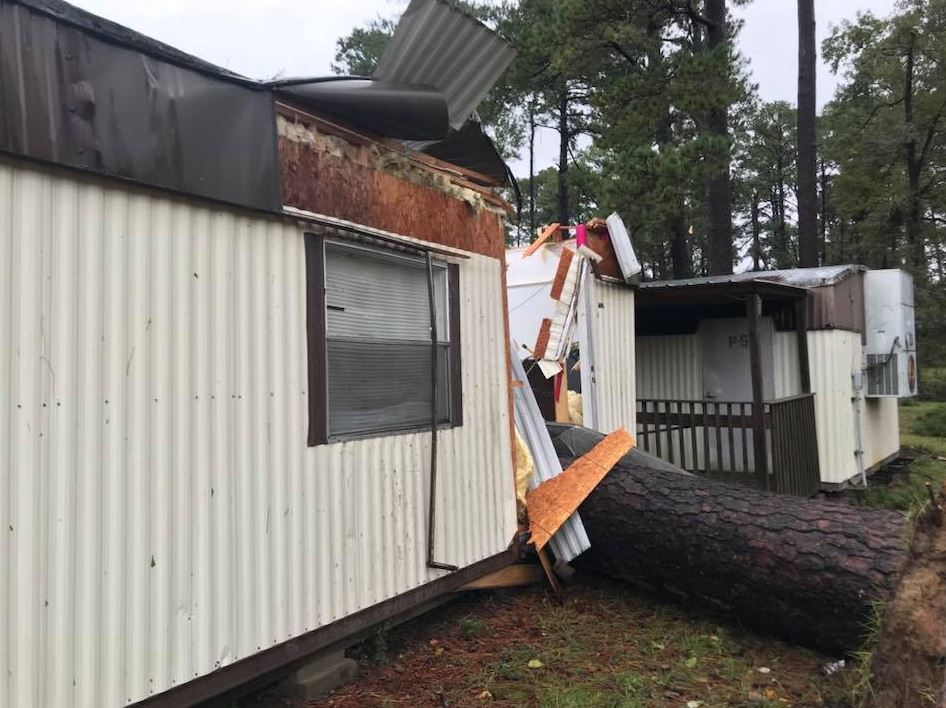 Overnight storm damage in Pineville