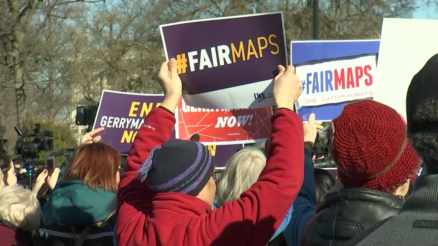 Rally Against Gerrymandering Held Outside Supreme Court