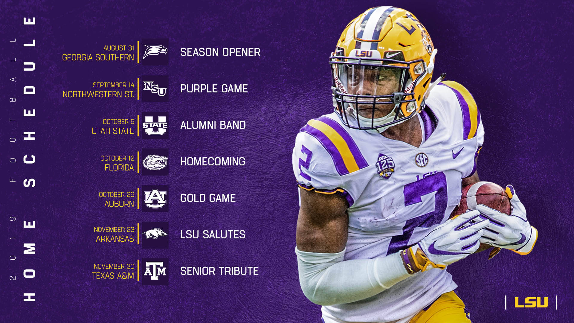 LSU 2019 Football Schedule released