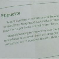 Decorum at Augusta National Golf Club