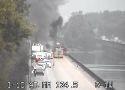UPDATE: One confirmed dead in an 18-wheeler explosion in